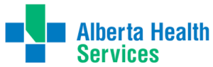 A logo for Alberta Health Services, an Armour Equipment client.