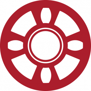A red icon of a system scaffolding piece.