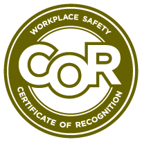 The workplace safety certificate of recognition seal.