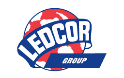 A logo of Ledcor Group, an Armour Equipment client.