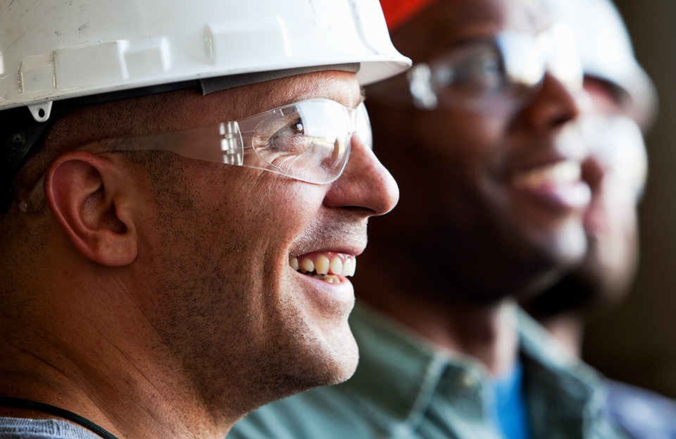 An image of smiling scaffolders.